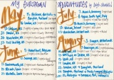 My European Adventures lettering