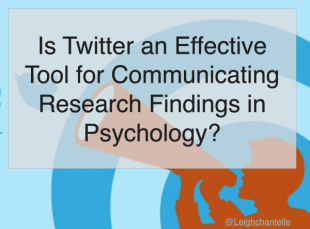 Is Twitter an Effective Tool for Communicating Research Findings in Psycholog