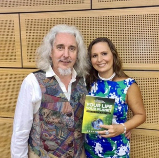 Geoff Leigh Chantelle at Your Life Your Planet book launch