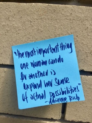 Adrienne Rich IWD2021 quote by Leigh Chantelle