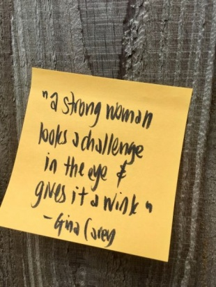 Gina Carey IWD2021 quote by Leigh Chantelle
