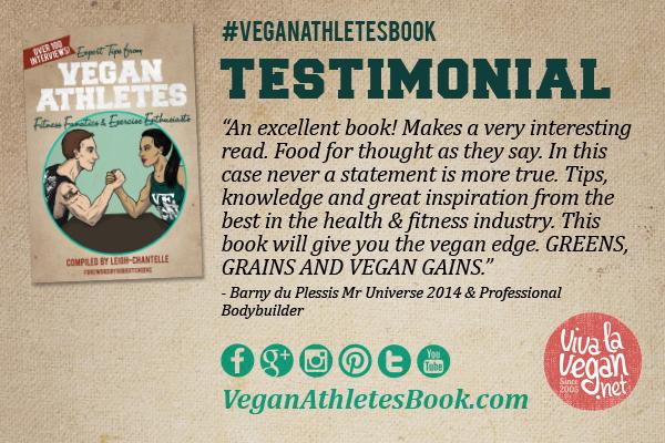 Vegan Athletes Book Testimonial